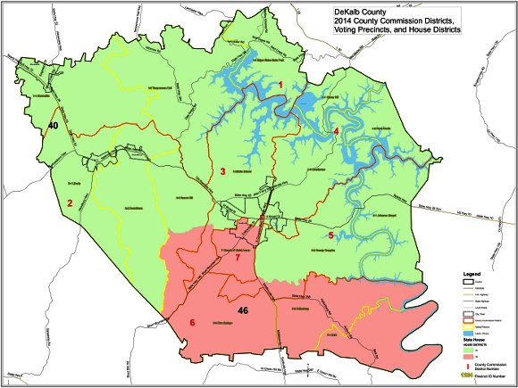 DeKalb County Map | DeKalb County Elections on